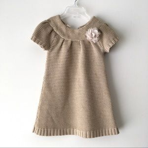 2-3T Gold Knit Dress/Tunic
